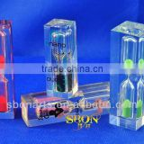 Mini crystal sand timer of 1-10 minutes