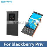 For Blackberry Priv Accessory Smart Slim Anti Drop Auto Sleep Function View Window Genuine leather Flip Cover Case Cover