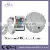10cm round RGB centerpiece vase base led sticker for bottle