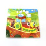 Yiwu agent Unique design Hot sale kids educational plywood puzzle animals board toys 9ps