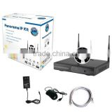 Most Cost-effective Wifi fisheye NVR kit Wireless home cctv system with free mobile APP Viewing