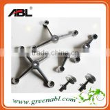 304/ 316 Stainless Steel Durable Glass Metal spiders Clamp System for glass wall fitting/ Subway Glass Wall