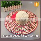 New Sun Hats Floral Casual Beach Hat Women Wide Brim Straw Hat Multiful Color Interweave Summer Hat