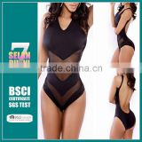 2015 Black mesh front transparent black sexy young girls black bikini,sexy girls black bikini of transparent mesh