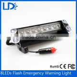Bus rear light 12 volt 8 led bulbs red blue amber strobe light bar