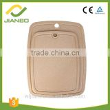 Online Wholesale Rice Husk Cutting Board Thick Chopping Blocks with Fruit Groove