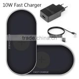 Smart Light Sensor GVC Black LED Qi Fast Wireless Charger Pad+ QC 2.0 adapter for Galaxy S6 / S7 Edge QC 2.0 QI CHARGER GQ710W