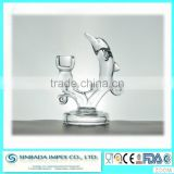 Wholesales lead free crystal glass dolphin decorative candle holder with SGS/CIQ certification