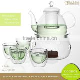 Superior Quality Professional Personalized Pyrex Heat Resistant Glass TeaPot