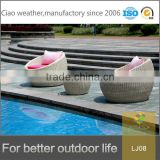 Garden furniture set rattan egg chair cute and comfortable waterproof rattan outdoor furniture