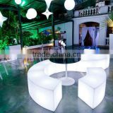 Wholesale lighting modern fashion plastic LED bench for one seat with 16 colors change and over 20 years lifespan
