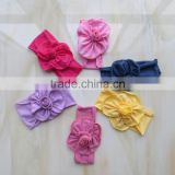 2015 pure color baby headband colorful flower headband YW-132