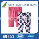 100%Cotton Material and Girls Gender High Quality Kids Clothes Baby Girls' 2 Pack Pants