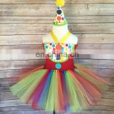 Rainbow Polka Dot Baby Tutu Dress Ballerina Pageant Tulle Dress Birthday Outfit Dance Recital Gown