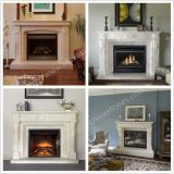Home Decoration Hand carved Fireplace Surround Natural Marble Fireplace Stone Mantel with Hearth Factory Price