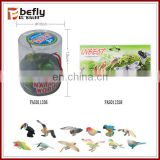 Lot of 12 Wholesale mini plastic bird toys for kids