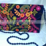 Hot Fancy Floral Embroidered Color Full Traditional Indian Velvet Party Clutch Tribal Ethnic Gypsy Clutch Evening Handbag Pouch
