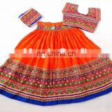 Navratri Pom POm work Choli- Navratri Mirror work Chaniya choli Indian Embroidered chaniya choli