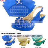 2016 lady sandal with matching bags\Itilian shoe and bags set\open top lady shoes
