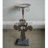 antique metal cross candlestick decorative