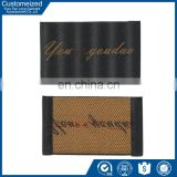 Custom brand name high density end fold woven label for garment