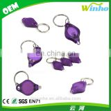 Winho wholesales plastic mini led keychain micro light with white beam