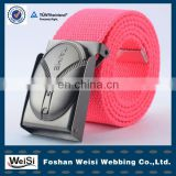 factory price promotion fashionable nylon fabric belt
