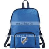 210D nylon backpack with reinforced top carry handle