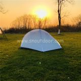 1 man tent ZP015 white backpacking double layer aluminium tents