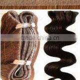 AAA quality virgin pu tape human hair extension