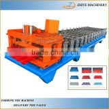 Popular Hydraulic Automatic Galvanized Metal Glazed Tile Sheet Roof Cold Forming Machine