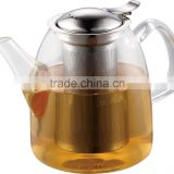 tea brewer glassware with stainless steel strainer borosilicate glass tea sets