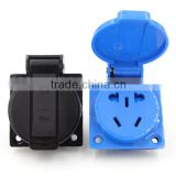High grade waterproof Super Tough Nylon AU/EU/US waterproof socket outlet receptacle