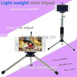 Wholesale hot sale mini Tripod phone /camera mobile stand/desk mobile stand