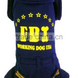 Blue Color Spring and Autumn Apparel USA FBI Printed Pet Fleece Dog Clothes