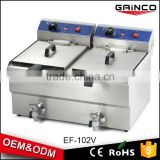 2016 hot selling commercial multi-function stainless steel electric conveyor fryer EF-102V