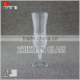 New Products In Market Glass cup/ hot sales design Hand press stock Champagne Glass Cup with stand Wine Glasses