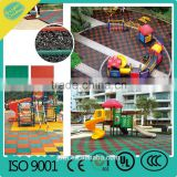 2016 rubber mat outdoor playground rubber tiles safety floor for sale