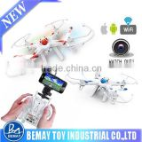 New Product 2.4G 6-Axis RC FPV Quadcopter with Camera Real Time Transmission with smart phone IOS & Androidran