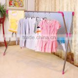 2015 indoor outdoor stainless steel adjustable standing clothes drying hanger EX-200