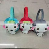 2015 hot sale winter earmuffs cute doll earmuff
