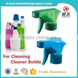 High quality custom color comestic bottle usage hand trigger sprayer pump house cleaner for good price