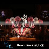 New design holiday Light LED outdoor christmas street ball with birds led motif light decoration