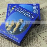 Hot Sale Full Color Printing 280gsm Blue Core Paper Made Customized Advertising Playing Cards