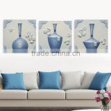 3d Oil Painting On Canvas with three art bottles home decor resin relief painting