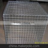 China Manufacture factory supply welded wire mesh gabion box used as river construction river stone gabion box