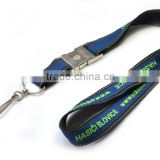 Woven lanyards are made of strong polyester material