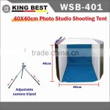 KINGBEST 40cmX40cm cube soft box flash bracket Photo LED studio shooting tent Lighting Shooting Box
