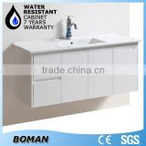 2015 Hangzhou Bath Product 1200mm Wall-mounted White Simple Design Bathroom Cabinet For The Australia Market