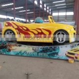 Amusement Track Rides Rotating Speed Rides Mini Spin Car / Electric Rally Car Ride For Kids